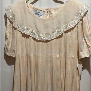 VTG SARAH ELIZABETH DRESS NWTS SZ 10 BLUSH/WHITE
